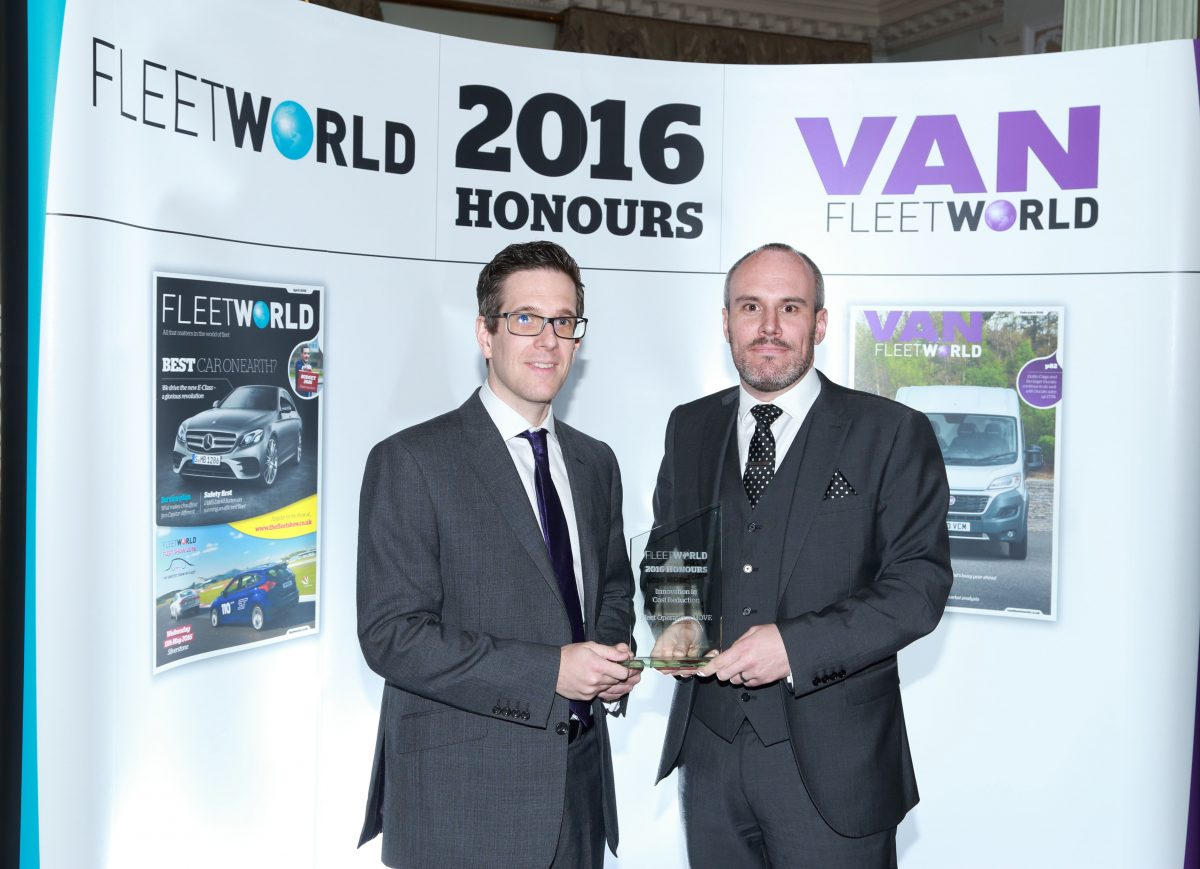 Fleet Operations win 'Innovation in Cost Reduction' Award at 2016 Fleet World Honours